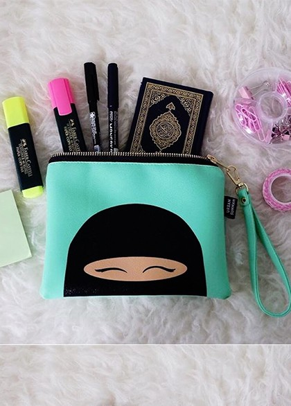 "Pochette Collection ""Niqabie"" Green"